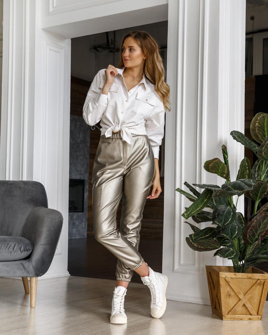 Παντελόνι γυναικεια μπρονζε image