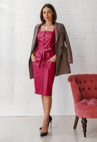 Midi Φόρεμα κόκκινο image