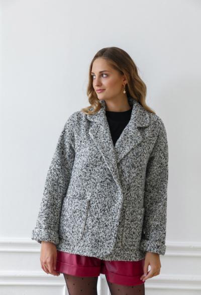 Tweed Oversized Coat Dublin grey