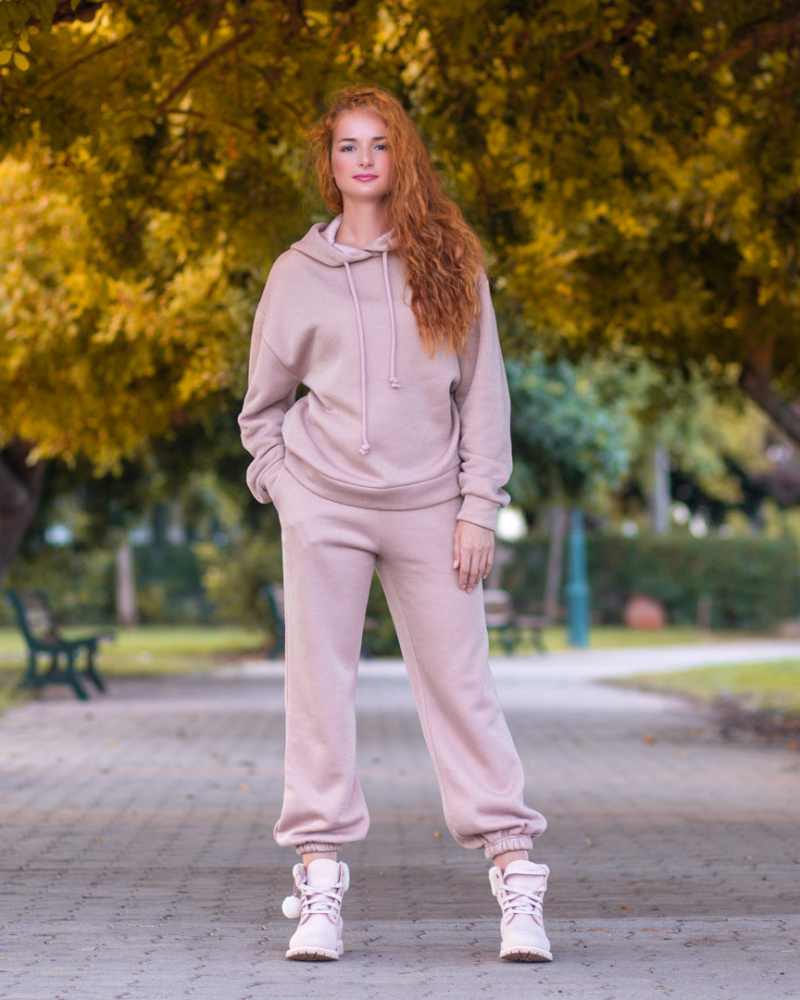 Pink Oversized hoodie with Lurex 1 image
