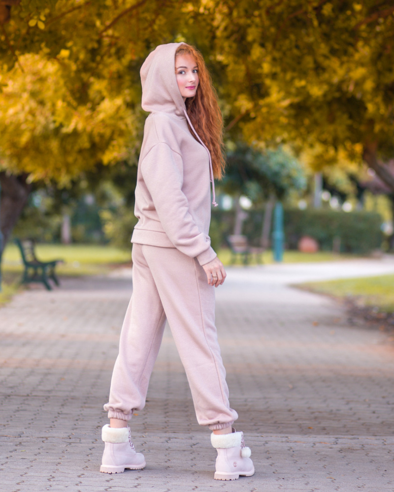(English) Pink Oversized hoodie with Lurex 2 image