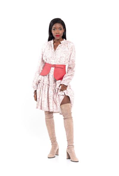 Floral print mini dress pink